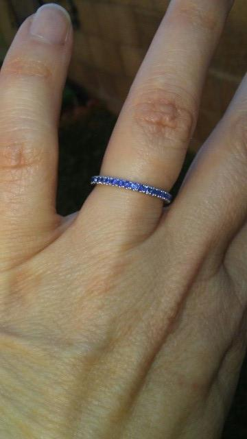 Reduced Blue Nile Sapphire Eternity Ring Sz 6 Bands